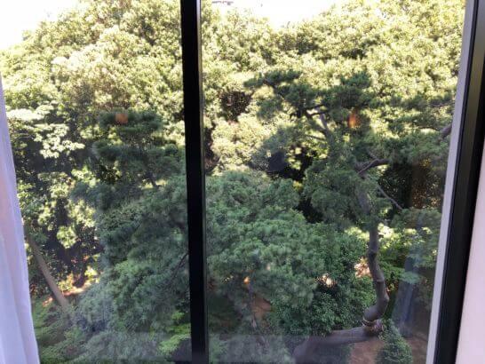 シェラトン都ホテル東京の部屋からの眺め
