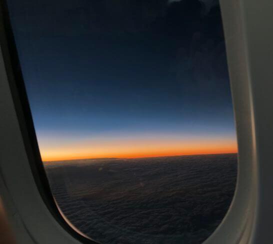 ANAの機中からの夕焼け