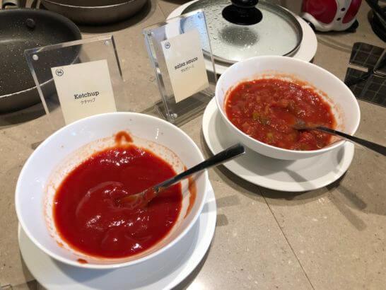 横浜ベイシェラトン ホテルのクラブラウンジの朝食時のエッグステーション (1)