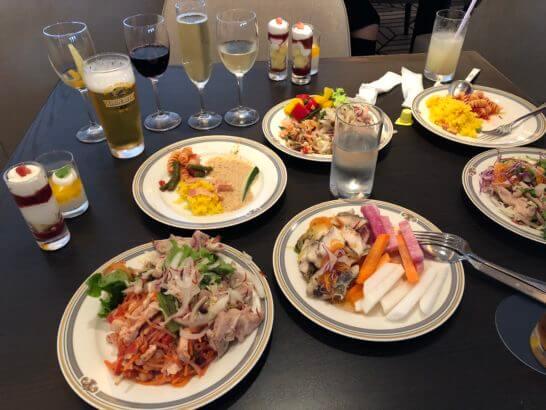 シェラトン・グランデ・トーキョーベイのクラブラウンジの夕食