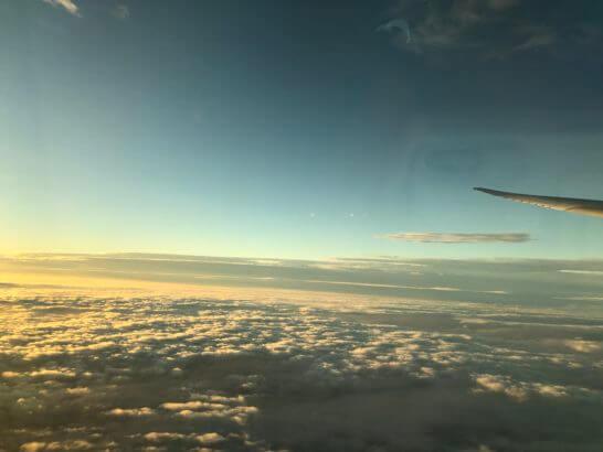ANAの機中からの青空・夕焼け