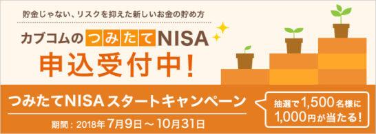 カブコムのつみたてNISAのキャンペーン