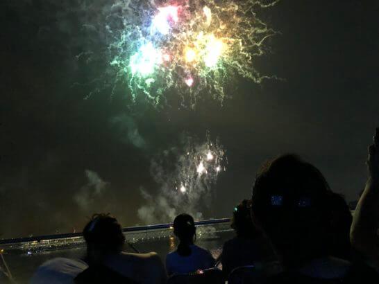 アメックスの横浜花火大会の花火 (3)