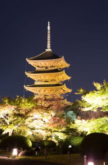 京都の東寺の五重塔