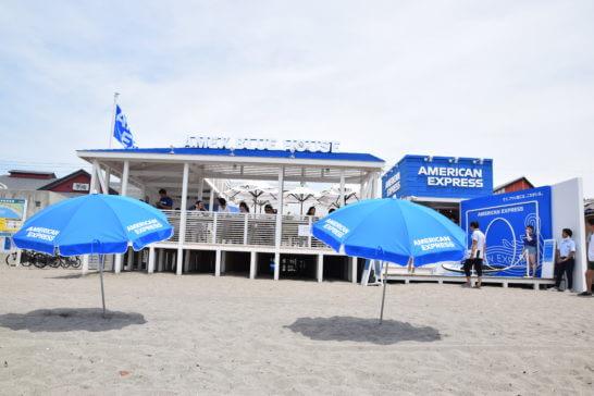 アメックスの海の家「AMEX BLUE HOUSE」の全体像