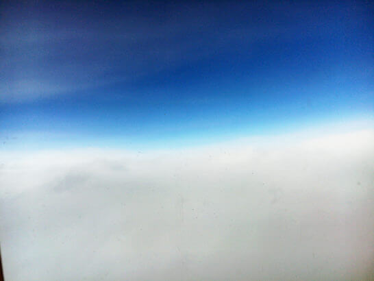 ANAの飛行機からの眺め