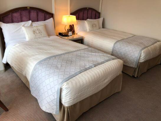 ホテルニューグランドのベッド