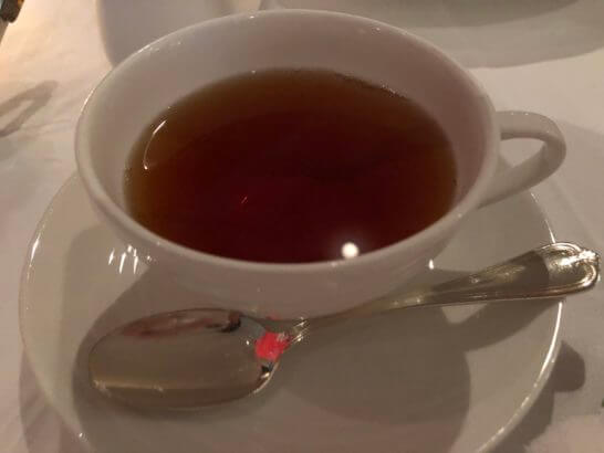 ホテルニューオータニのベッラ・ヴィスタの紅茶