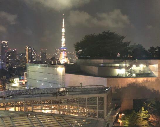グランドハイアット東京のデラックスツインのからの夜景