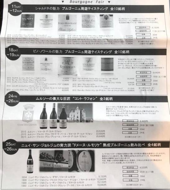 エノテカ広尾本店のテイスティング・飲み比べイベント