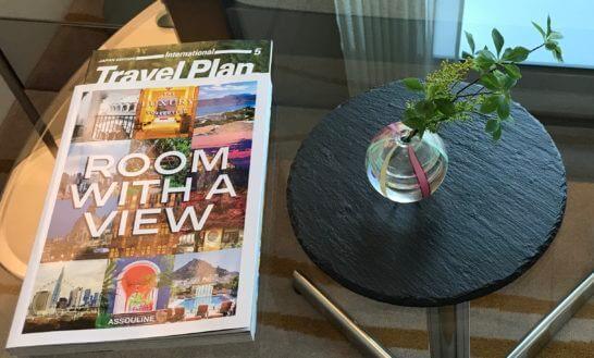 ラグジュアリーコレクションホテルの客室インテリアと冊子