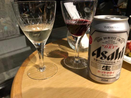 伊豆マリオットホテル修善寺の白ワイン・赤ワイン・ビール