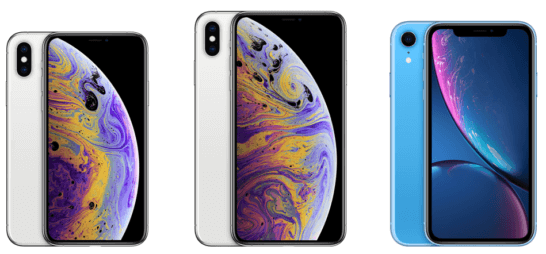 iPhone XS、XS Max、XR