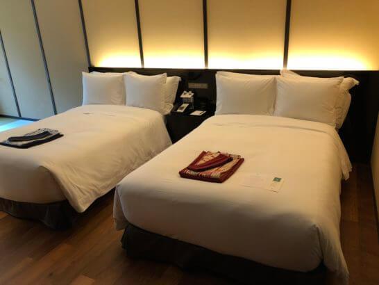 翠嵐ラグジュアリーコレクションホテル京都のベッド