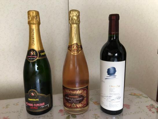 シャンパン、ロゼシャンパン、オーパス・ワン