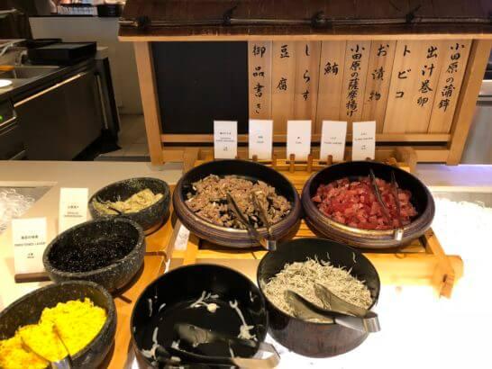 ヒルトン小田原の朝食のお刺身