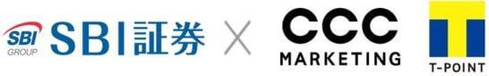 SBI証券とTポイントのロゴ