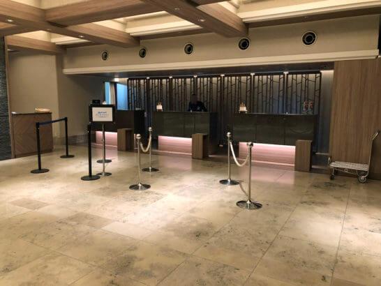 伊豆マリオットホテル修善寺のフロント
