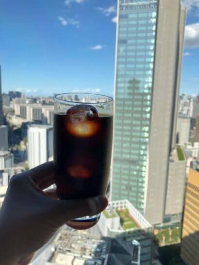ANAインターコンチネンタルホテル東京のクラブラウンジのアイスコーヒー
