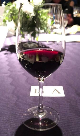 ダイナースクラブ フランスレストランウィークのガラディナーの赤ワイン