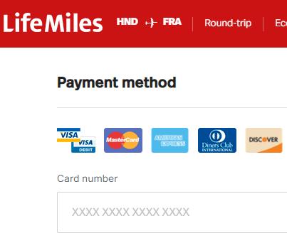 アビアンカ航空の航空券購入画面