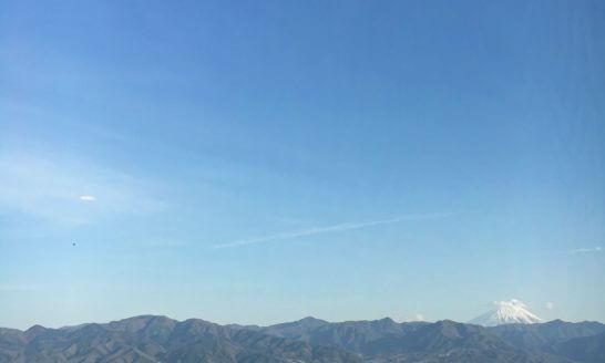 山梨の風景(青空と富士山)