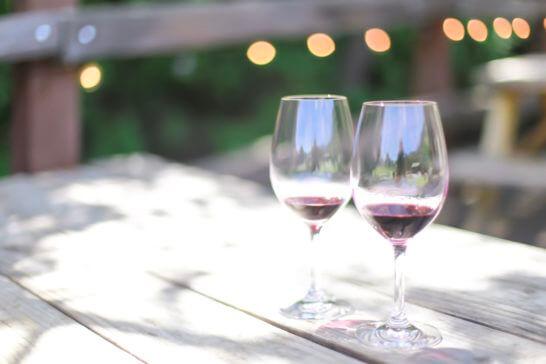 ワインの試飲