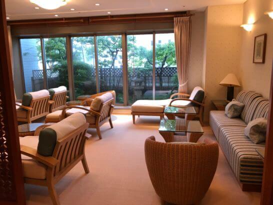 ホテル日航高知旭ロイヤルの大浴場・サウナの休憩室