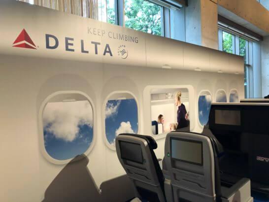 デルタ航空のシート