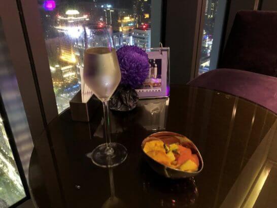 Wホテル台北の最上階のバー