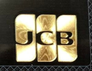 JCB THE CLASSのゴールドの箔押し印刷のロゴ