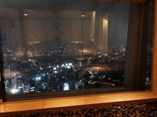 ザ・リッツ・カールトン東京のジャグジーからの夜景