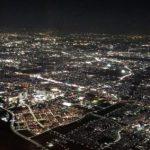 機中からの夜景