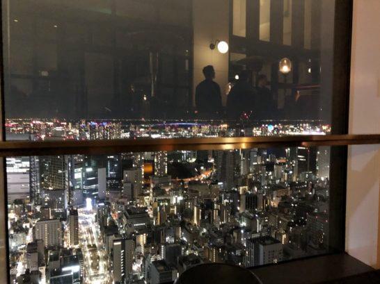 アンダーズ東京のルーフトップバーからの夜景