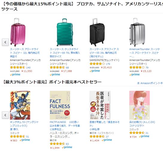 Amazonポイントキャンペーン中の商品ページ