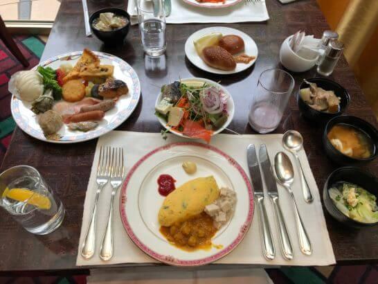 ウェスティンホテル東京のザ・テラスの朝食の例