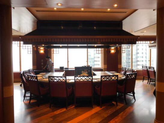ウェスティンホテル東京の鉄板焼 恵比寿の室内