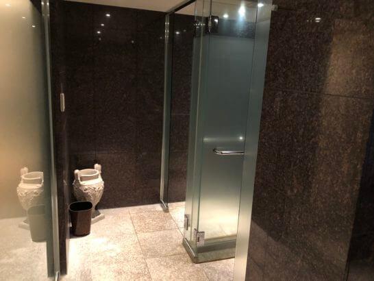 ウェスティンホテル東京のル・スパ・パリジエンのシャワー