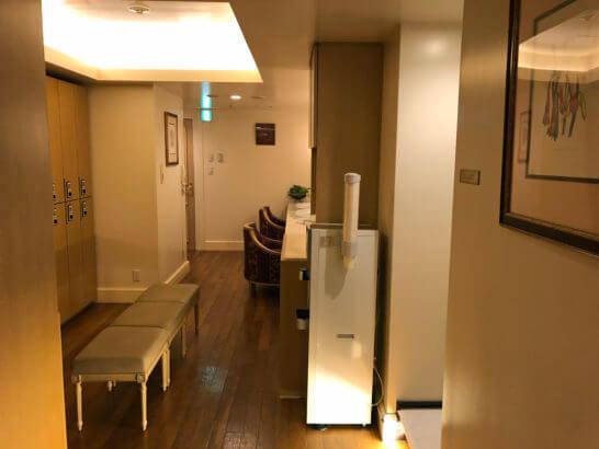 ウェスティンホテル東京のル・スパ・パリジエンの更衣室