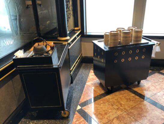 ウェスティンホテル東京の中国レストランの飲茶のトレー