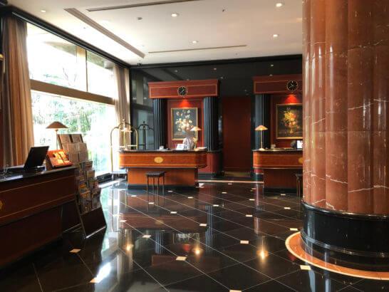 ウェスティンホテル東京のフロント