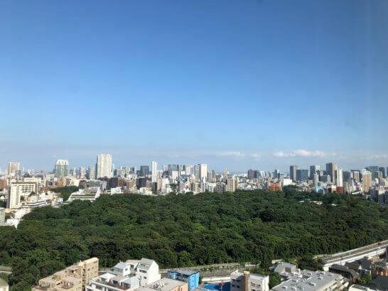 ウェスティンホテル東京の東側(イーストビュー)の眺め (3)