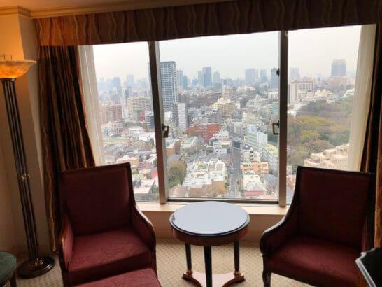 ウェスティンホテル東京の14Fのツインルームの窓際