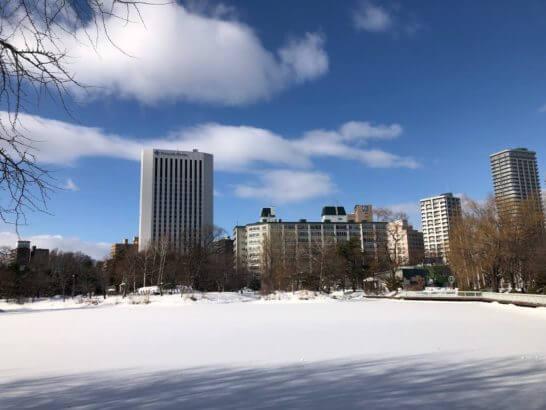 札幌の中島公園 (冬)