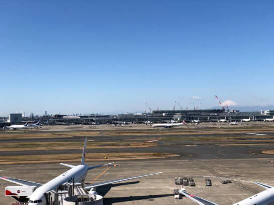 富士山が見える羽田空港