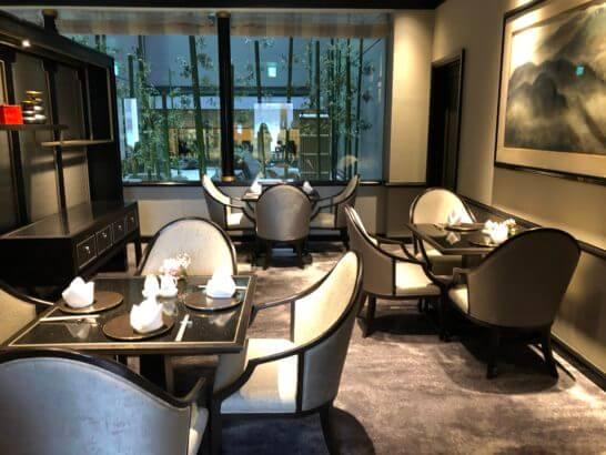 中国料理 龍天門のテーブル席