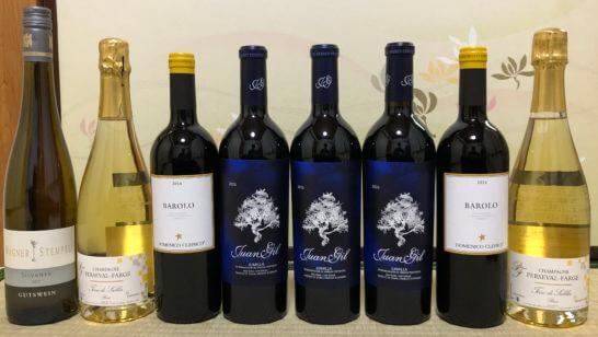 フィラディスで買った赤ワイン、シャンパン、白ワイン