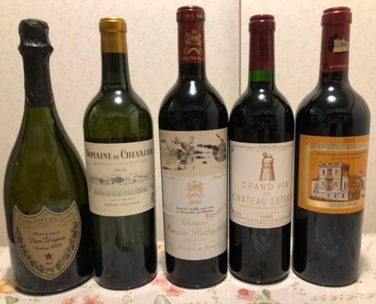 ドンペリ、高級な赤ワイン