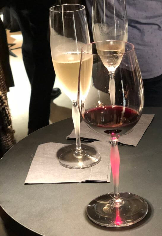 ラリックの赤ワインとシャンパン