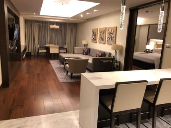 マニラ マリオットホテルのスイートルーム